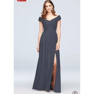 Crisscross Off-the-shoulder Bridesmaids Dress